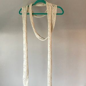 OGO Geral Paris Long Scarf Cream With Gold